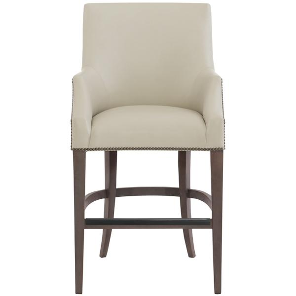 See Details - Keeley Leather Counter Stool in Cocoa Finishes Available Cocoa (CN1) Portobello (PN1) Smoke (SN1) Nailhead Finish Shown #44 Antique Nickel