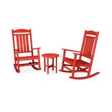 View Product - Presidential 3-Piece Rocking Chair Set in Sunset Red