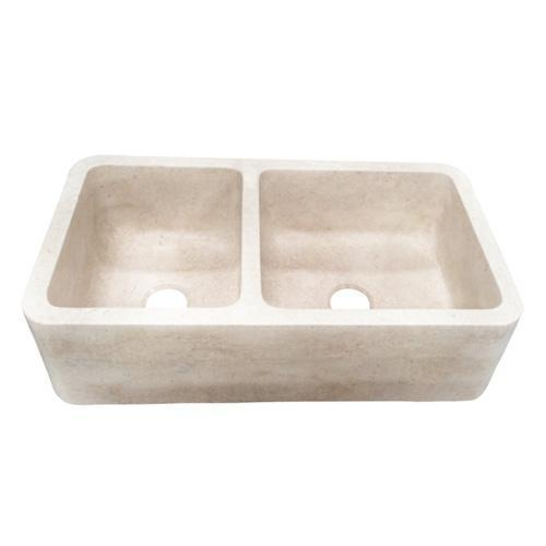 Dryden Double Bowl Marble Farmer Sink - 36""