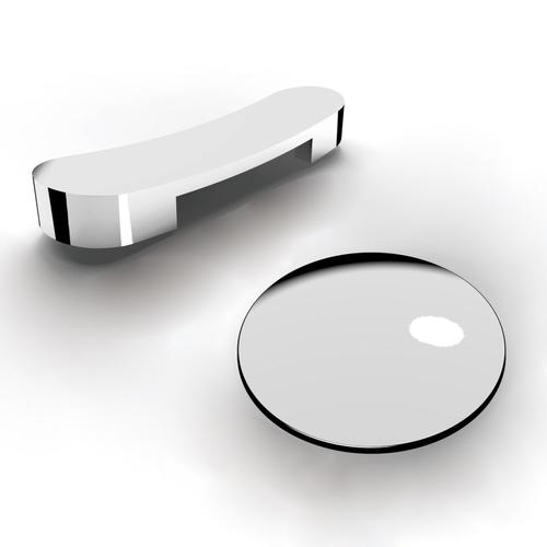 """Mallory 68"""" Acrylic Slipper Tub with Integrated Drain and Overflow - Polished Chrome Drain and Overflow"""