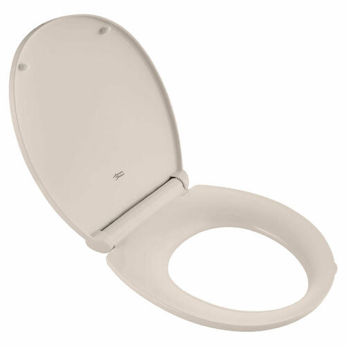 Contemporary Slow-Close Round-Front Toilet Seat with TriVantage  American Standard - Linen