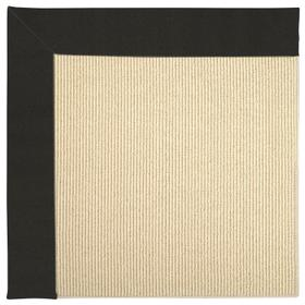 Creative Concepts-Beach Sisal Canvas Black Machine Tufted Rugs (Custom)