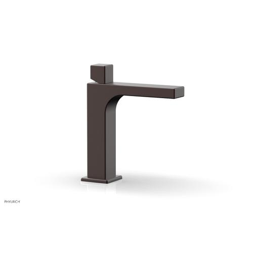 MIX Single Hole Lavatory Faucet, Cube Handle 290-08 - Weathered Copper