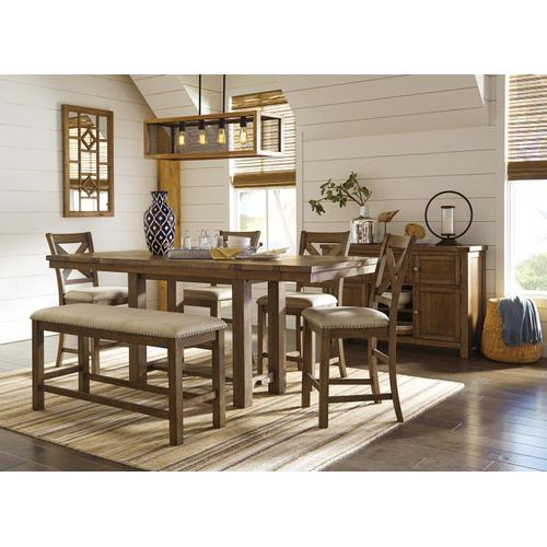 Moriville Table Four Chairs and Bench