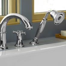 Portsmouth Deck-Mounted Bathtub Faucet with Cross Handles - Oil Rubbed Bronze