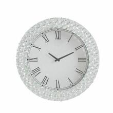 ACME Nysa Wall Clock - 97045 - Mirrored & Faux Crystals
