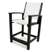 Black & White Coastal Counter Chair