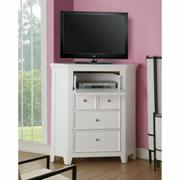 ACME Lacey TV Console (Corner) - 30603 - White Product Image