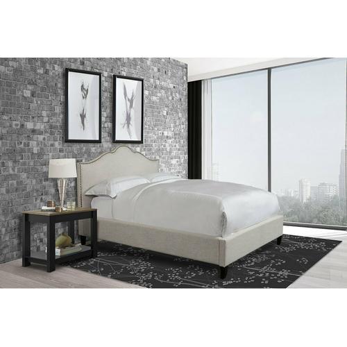 Parker House - JAMIE - FLOUR Queen Bed 5/0 (Natural)