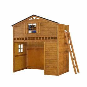 ACME Tree House Loft Bed - 10160 - Rustic Oak