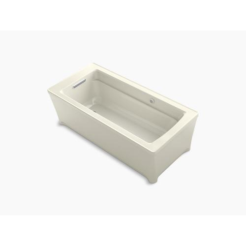 "Biscuit 68"" X 32"" Freestanding Bath With Bask Heated Surface"