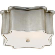 AERIN Bolsena 2 Light 12 inch Burnished Silver Leaf Flush Mount Ceiling Light