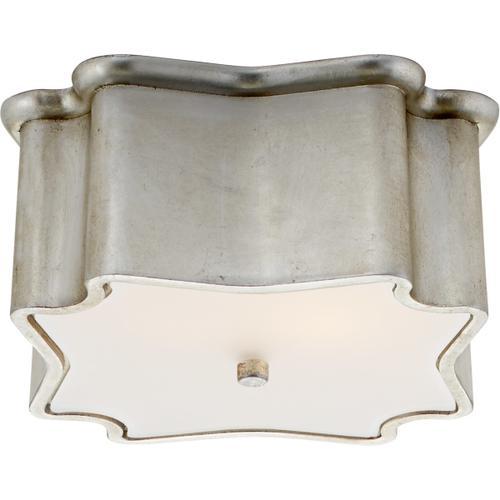 AERIN Bolsena 2 Light 12 inch Burnished Silver Leaf Flush Mount Ceiling Light
