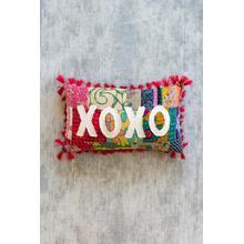 See Details - xoxo kantha pillow