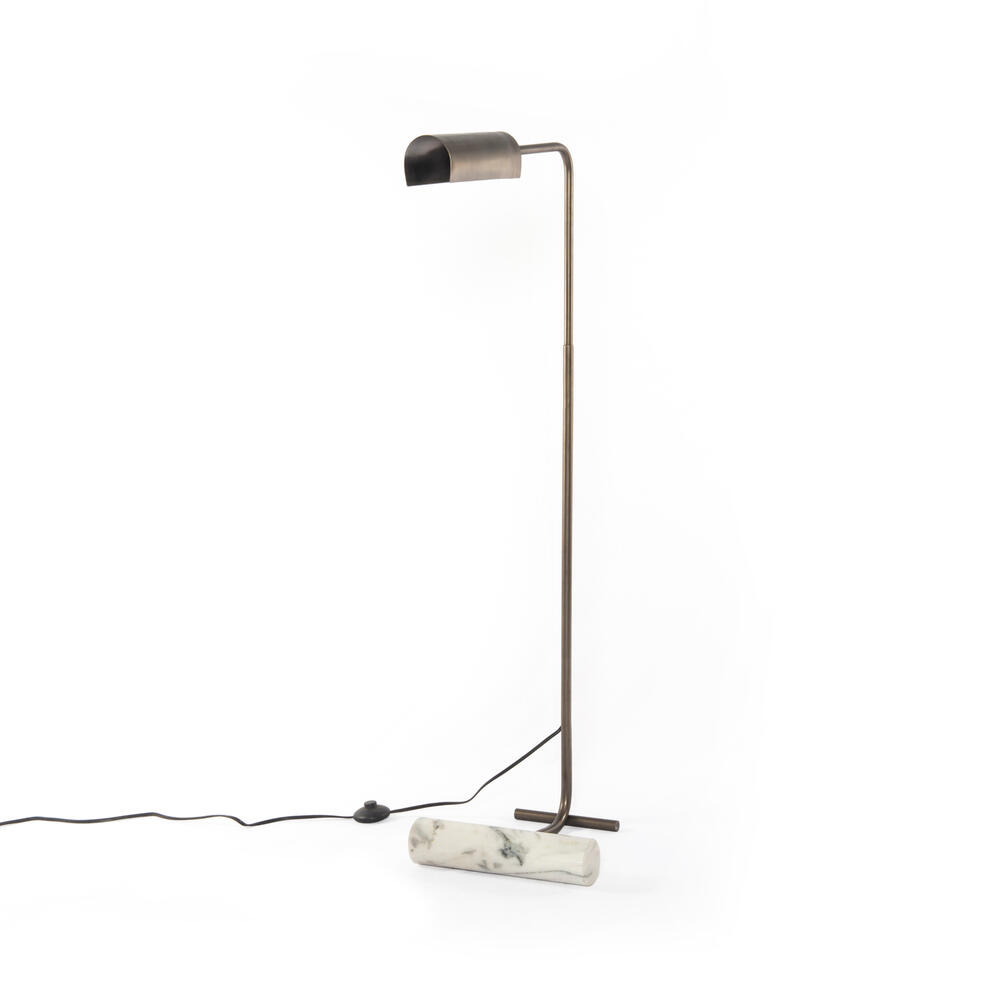 White Marble Finish Hector Task Lamp