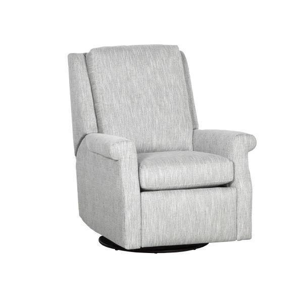 Reclination Greek Key Manual Push Back Swivel Glider Recliner
