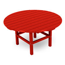 "Sunset Red Round 38"" Conversation Table"
