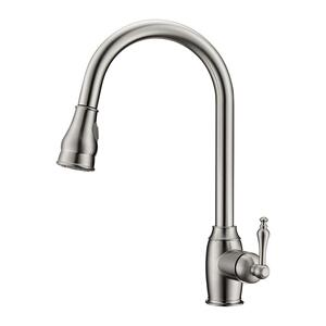 Bay Single Handle Kitchen Faucet with Single Handle 1 - Brushed Nickel Product Image