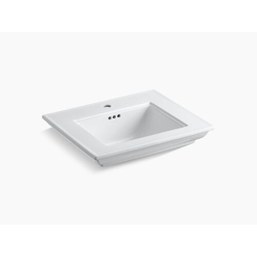 """White 24"""" Pedestal/console Table Bathroom Sink Basin With Single Faucet Hole"""