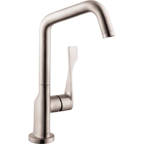 Steel Optic Kitchen Faucet 1-Spray, 1.5 GPM