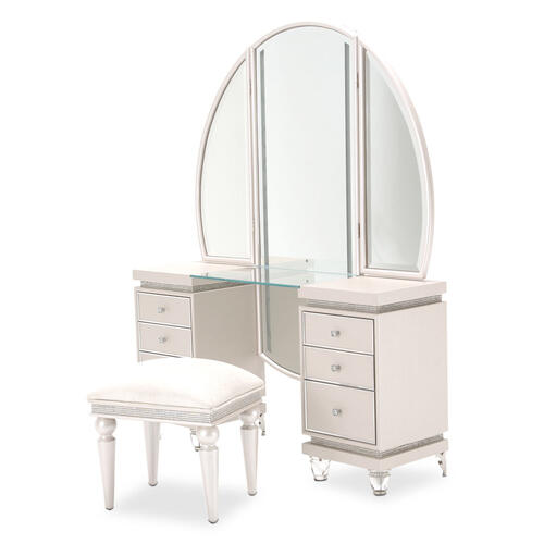 Vanity Desk Mirror & Bench 3 PC