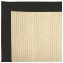 "Creative Concepts-Beach Sisal Canvas Black - Rectangle - 24"" x 36"""