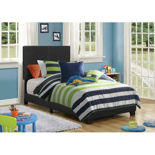 Dorian Black Faux Leather Upholstered Twin Bed