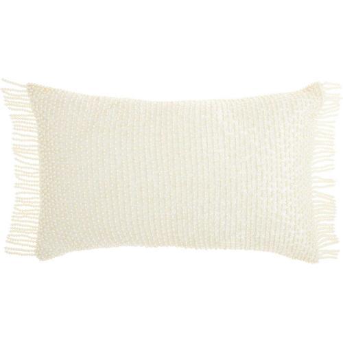 "Luminescence Ns991 Ivory 12"" X 20"" Throw Pillow"