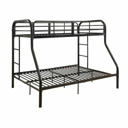 ACME Tritan Twin/Full Bunk Bed - 02043BK - Black
