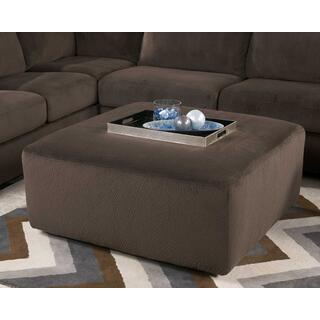 Jessa Place Oversized Accent Ottoman Chocolate
