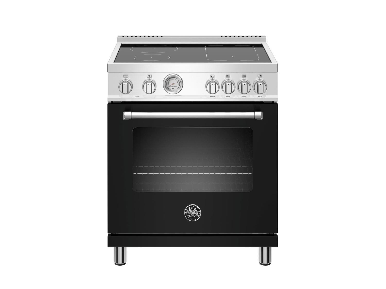 Bertazzoni30 Inch Induction Range, 4 Heating Zones, Electric Oven Nero Matt