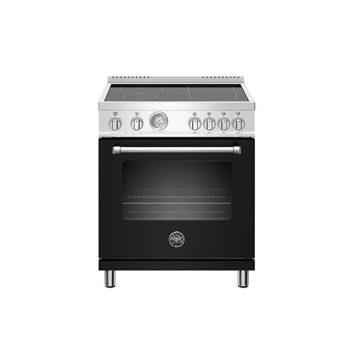 Bertazzoni - 30 inch Induction Range, 4 Heating Zones, Electric Oven Nero Matt