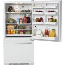 17.5 cu. ft. Bottom-Freezer Refrigerator with Adjustable Glass Shelves, Humidity Control System, Full Extension Freezer Drawer, Radius Door Design and ADA Compliant