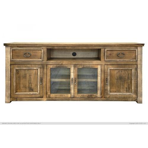 "International Furniture Direct - 80"" TV Stand w/ 2 Drawers & 4 Doors"