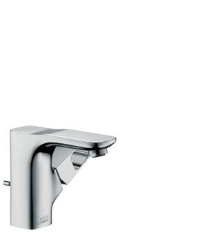Chrome Single lever basin mixer 110 for hand washbasins with pop-up waste set Product Image