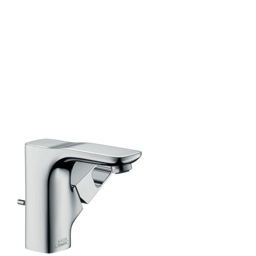 Chrome Single lever basin mixer 110 for hand washbasins with pop-up waste set