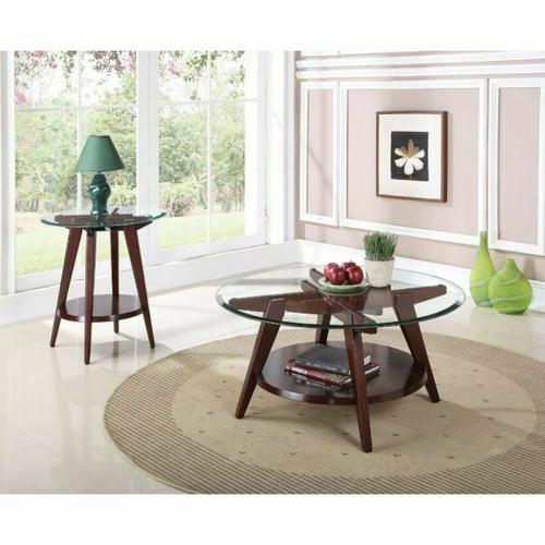 Acme Furniture Inc - ACME Ardis Coffee Table - 80520 - Espresso & Clear Glass