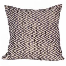 Chevron Feather Cushion Charcoal 25x25