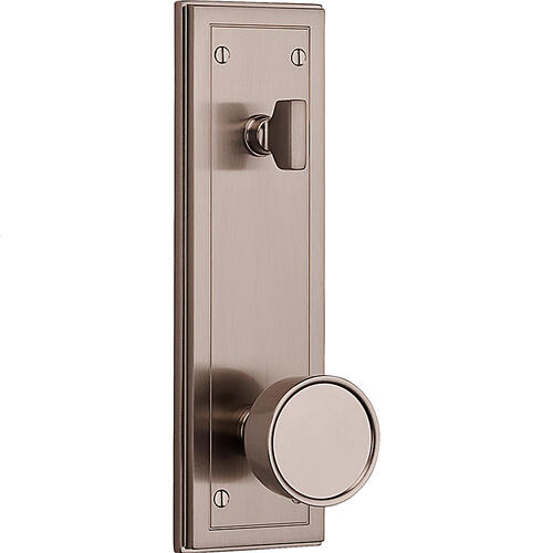 Satin Nickel Hollywood Hills Full Escutcheon Handleset