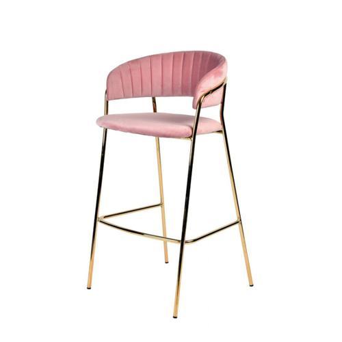 VIG Furniture - Modrest Brandy Modern Pink Fabric Bar Stool (Set of 2)