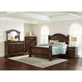Satterfield Traditional Warm Bourbon California King Five-piece Set