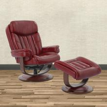 Product Image - PRINCE - ROUGE Manual Reclining Swivel Chair and Ottoman