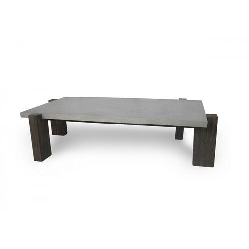 VIG Furniture - Modrest Milton - Dark Grey & Walnut Coffee Table