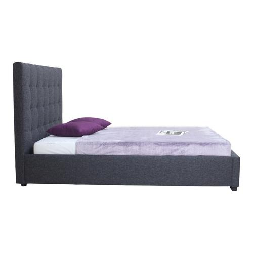 Belle Storage Bed Queen Charcoal Fabric