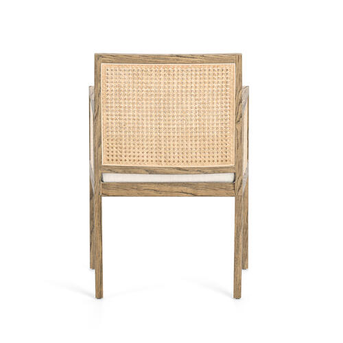 Toasted Nettlewood Finish Antonia Cane Dining Arm Chair
