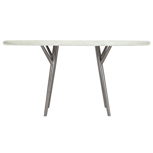 Presley Round Dining Table in Brushed White