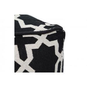 Cross Pattern Pouf