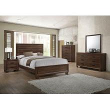 Brandon Transitional Medium Brown Eastern King Bed