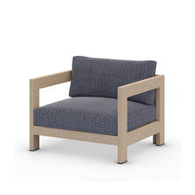 Faye Navy Cover Caro Outdoor Chair, Washed Brown