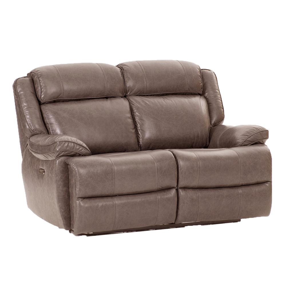 Avalon Dual Power Reclining Loveseat  Leather Latte